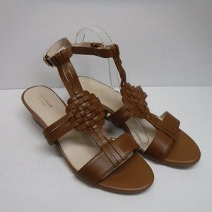 Cole Haan Size 10.5 Brown Leather Wedge Sandals